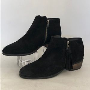 MIA Black Suede Leather Ankle Booties Size 7 1/2